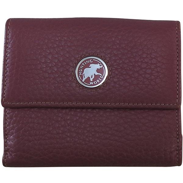 H・ワールド カーフ Wホック財布