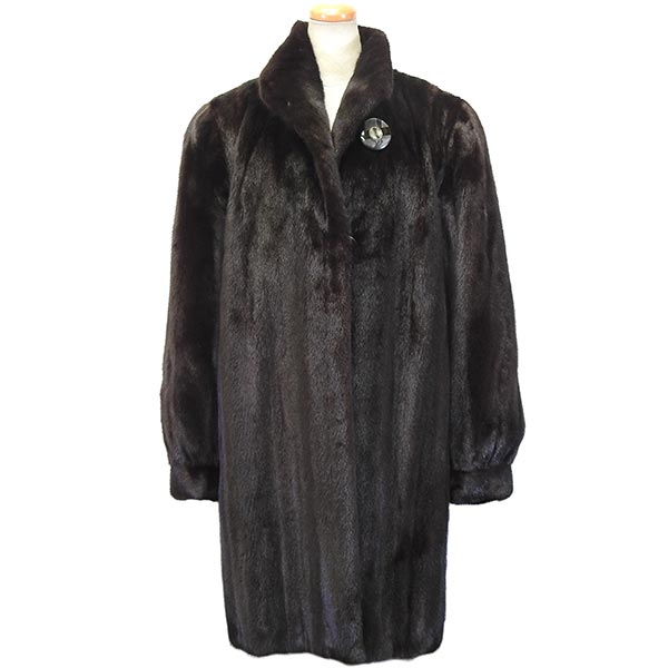 ブラックグラマー ミンクコート